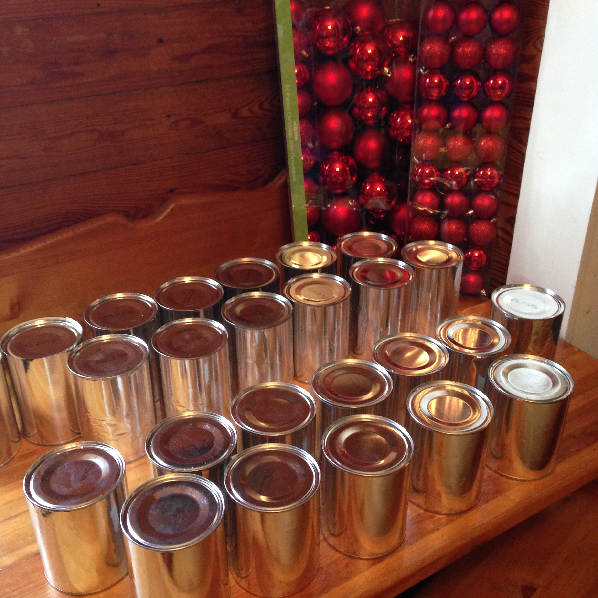 Diy coffee can christmas tree misslizgooden - What are coffee cans made of ...