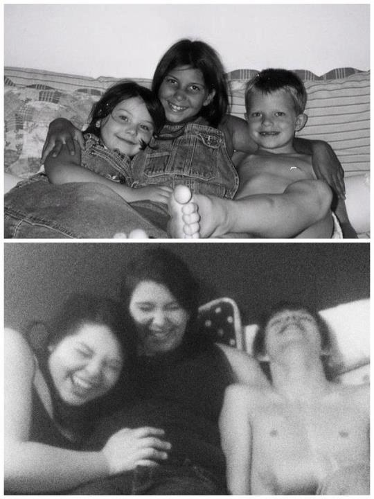 We recreated a photo of my children, ten years later. It felt like two years later.